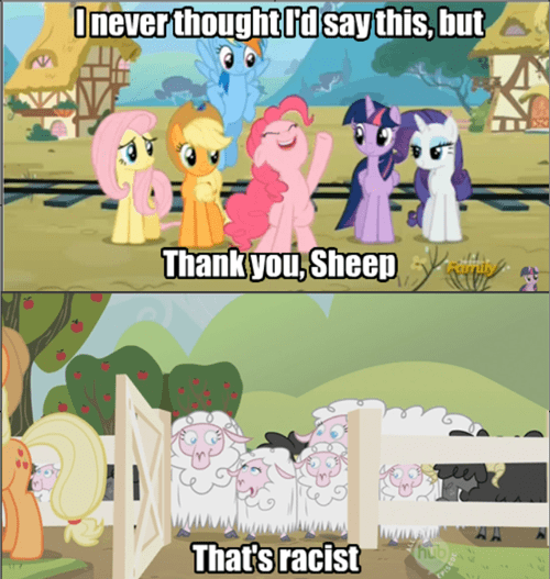 racism pinkie pie sheep - 8520551168