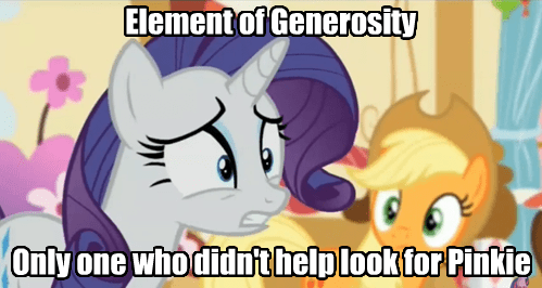 elements of harmony,generosity,worst pony,rarity