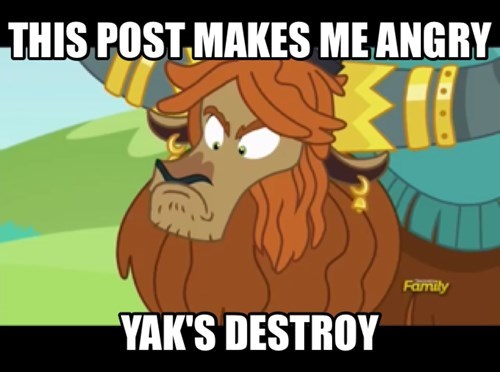 yaks post MLP mad