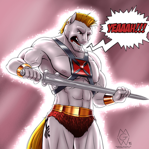 bulk biceps Fan Art he man - 8520860416