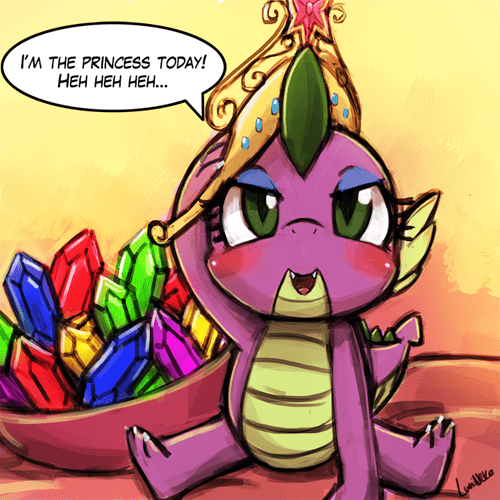 spike,princess,Fan Art,dreams