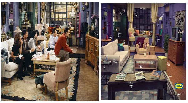 Friends living room recreate by IKEA products