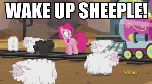 pinkie pie,sheep,train