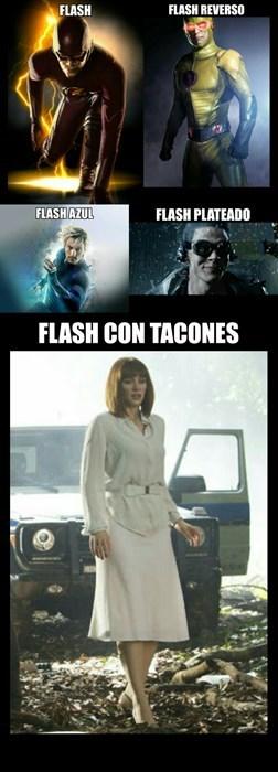 flash con tacones