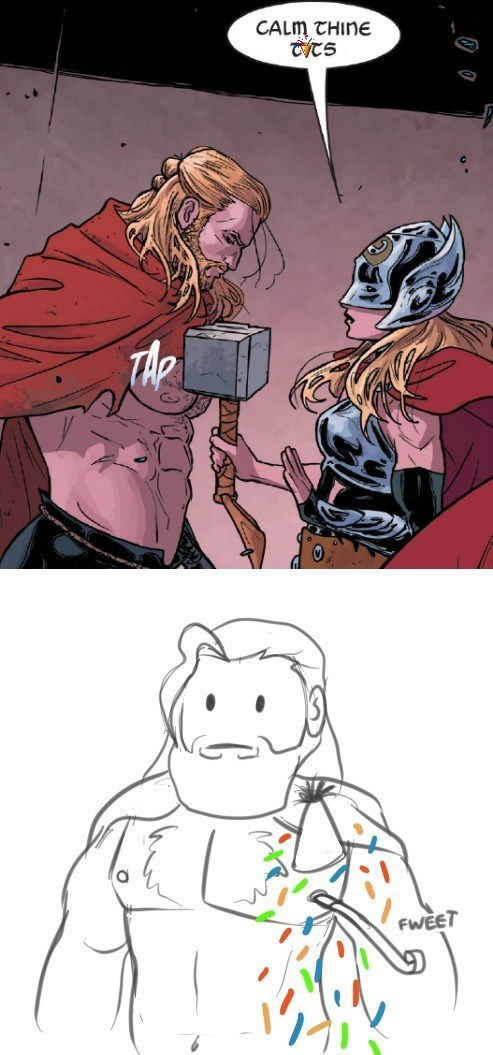 calm your t Thor Straight off the Page Memes - 8522843904