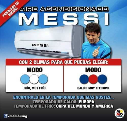 Messi a doble marcha