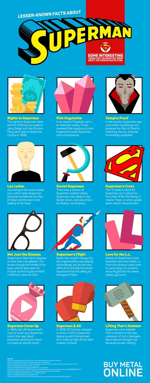 infographic superman fun facts - 8522998528
