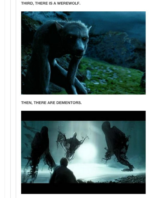 Adaptation - THIRD, THERE IS A WEREWOLF THEN, THERE ARE DEMENTORS.
