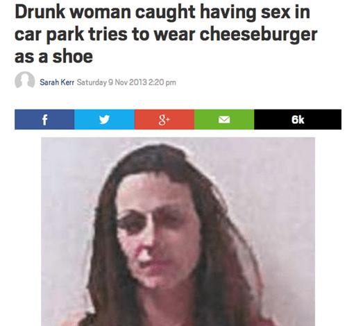 drunk, cheeseburger, shoe, mug shot