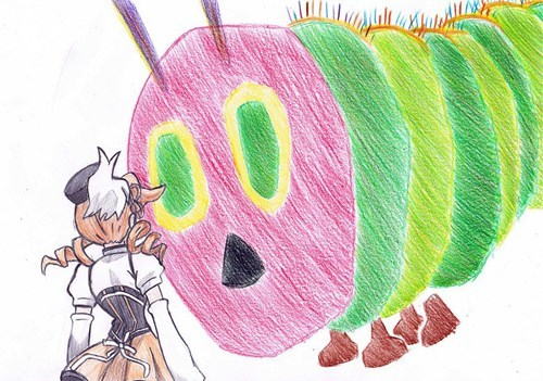 cartoon memes hungry caterpillar madoka magica