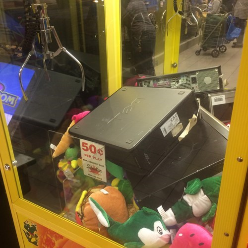 claw machine dell computers