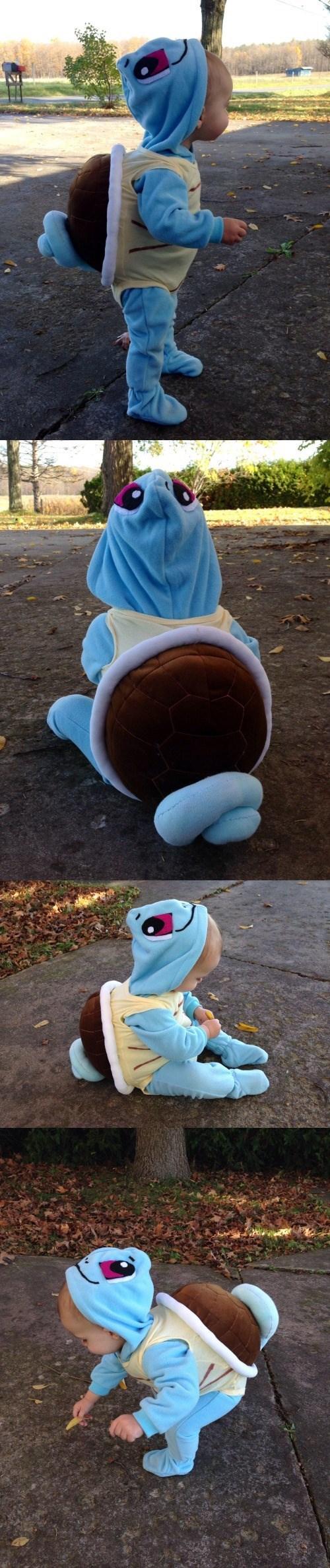 pokemon memes cute kid cosplay squirtle