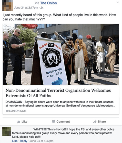 terrorists, club, nondenominational, the onion