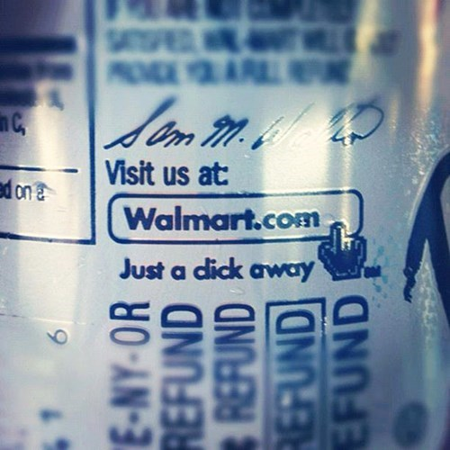 Text - SA O AR Visit us at ed on Walmart.com Just a dick away E-NY-OR REFUND REFUND REFUND FUND