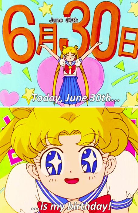 anime memes june 30 sailor moon birthday