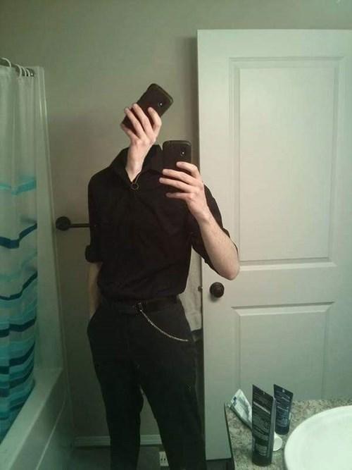 selfie of selfie face