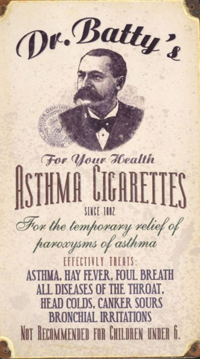 asthma cigarettes old advertisement