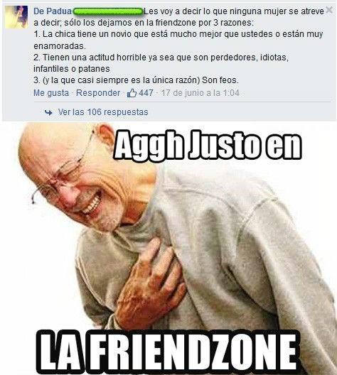 razones de friendzone