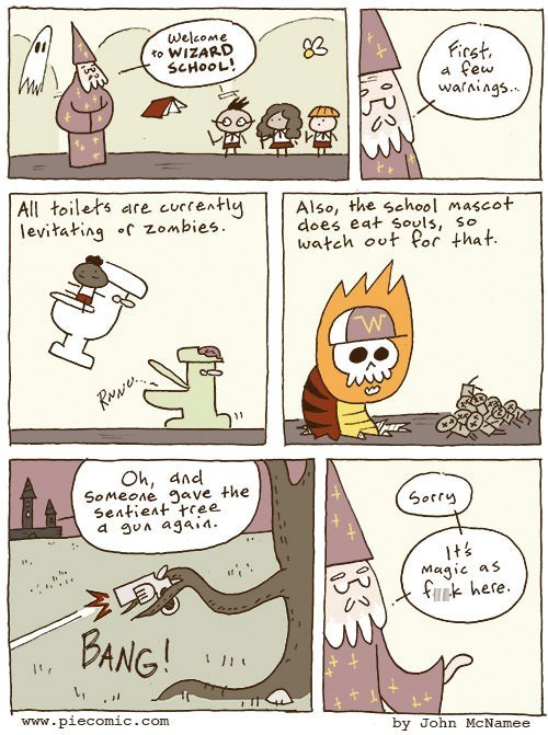 funny-web-comics-wizard-school-aint-easy