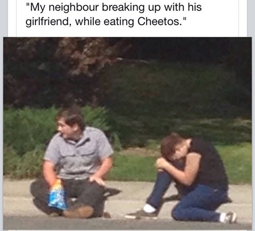 breakup, teenagers, cheetos, snacks, crying