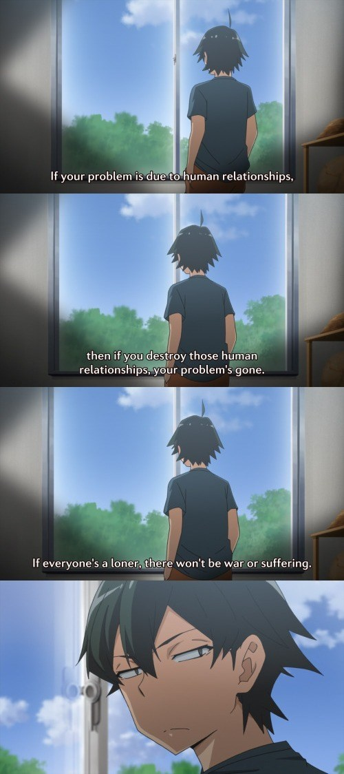 anime memes relationships human suffering snafu