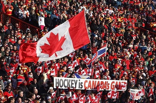Crowd - HOCKEY is CANADA'S GAIE MOCK