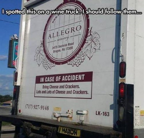 truck, wine, spill, accident, cheese