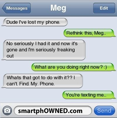 texting, logic, confused, drunk, lost phone