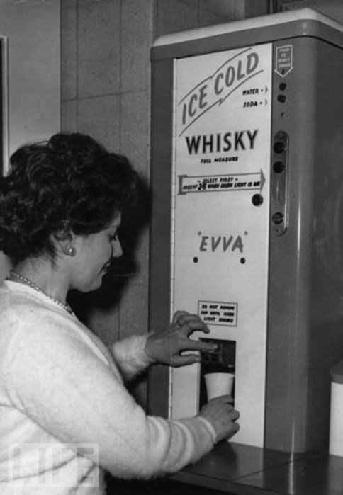 whisky, vending machine, drinking