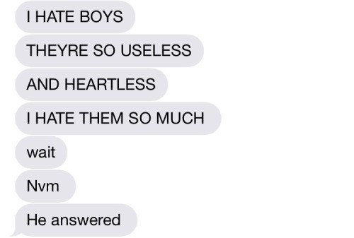 texting, boys, useless, heartless