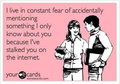 facebook, stalking, someecards