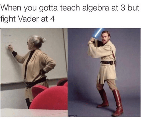 teacher dressed like star wars