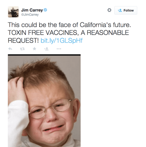 jim carrey, vaccination, disappointment, conspiracy