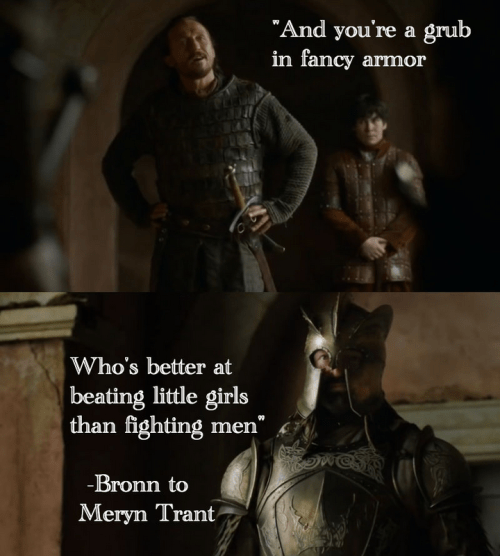 Game of Thrones memes season 5 Bronn knew all about Meryn Trant