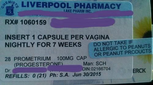 insert one capsule per vagina
