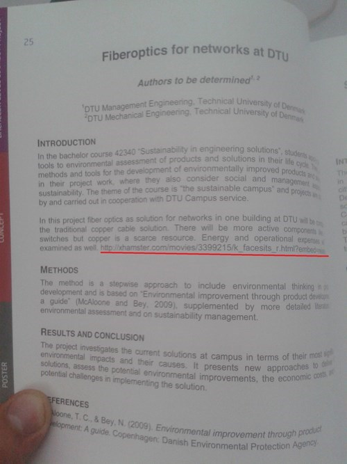 porn link typo in science document