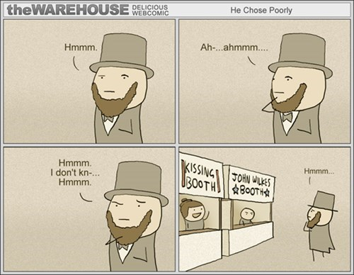 abraham lincoln,puns,web comics
