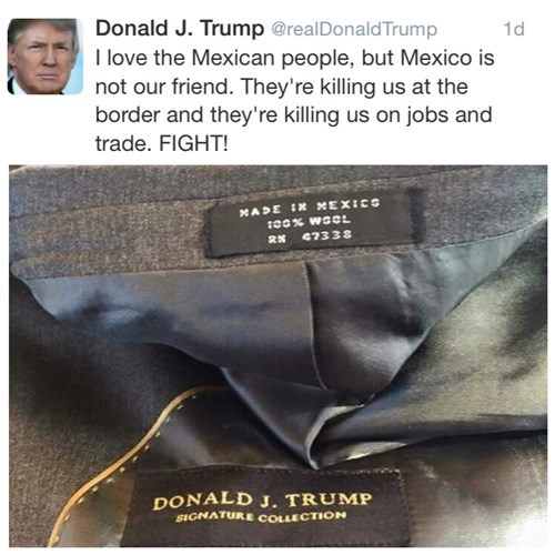 donald trump, mexico, hypocrisy, coat