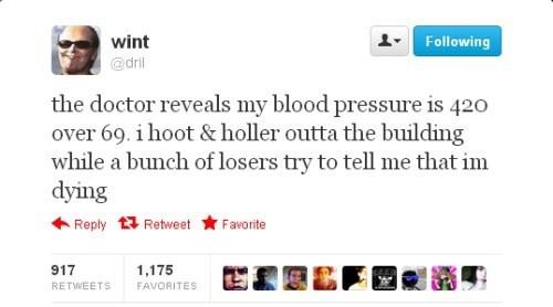 blood pressure, 420, losers, twitter