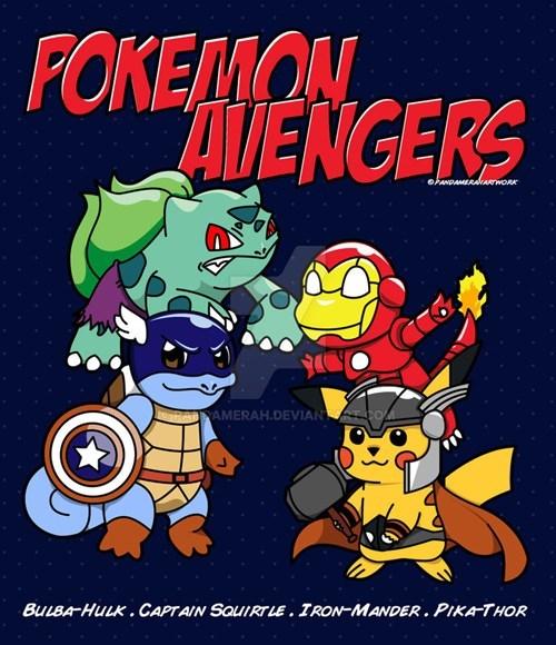 pokmeon memes avengers fan art