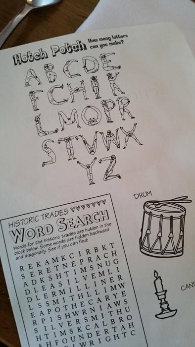 kids menu worksheet exposed