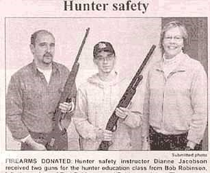 hunter safety points gun newspaper