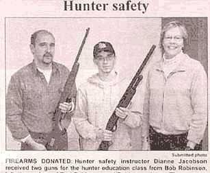 hunter safety points gun newspaper