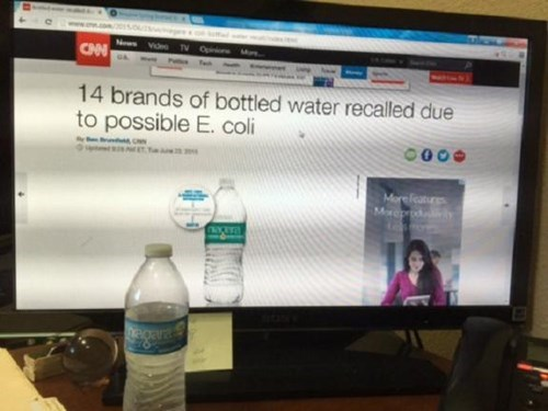 water bottle recalled ecoli