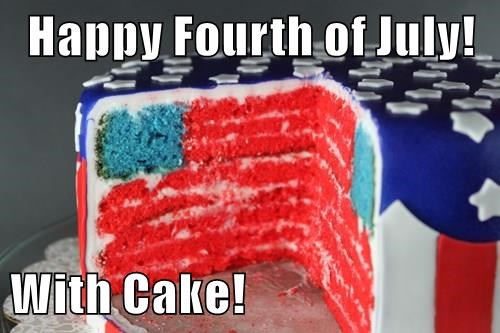 Happy Fourth of July!  With Cake!