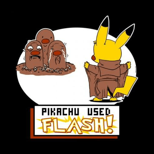 pokemon memes pikachu used flash