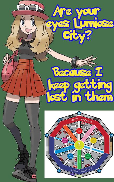 pokemon memes lumiose city pickup lines