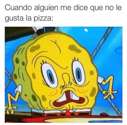 no le gusta la pizza