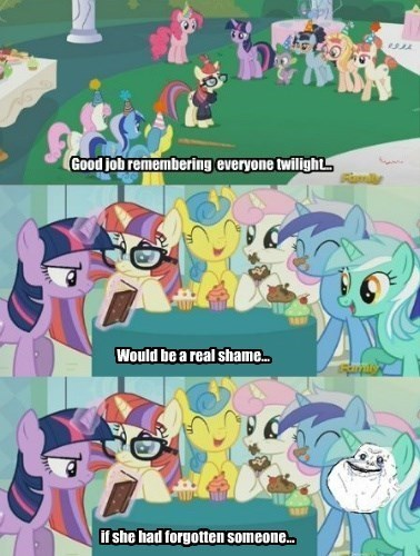 forever alone,twilight sparkle,lyra heartstrings