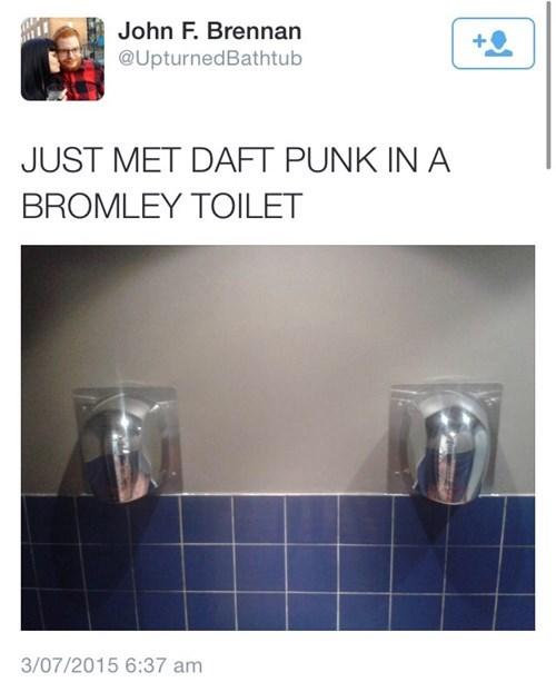 daft punk, toilet, drunk